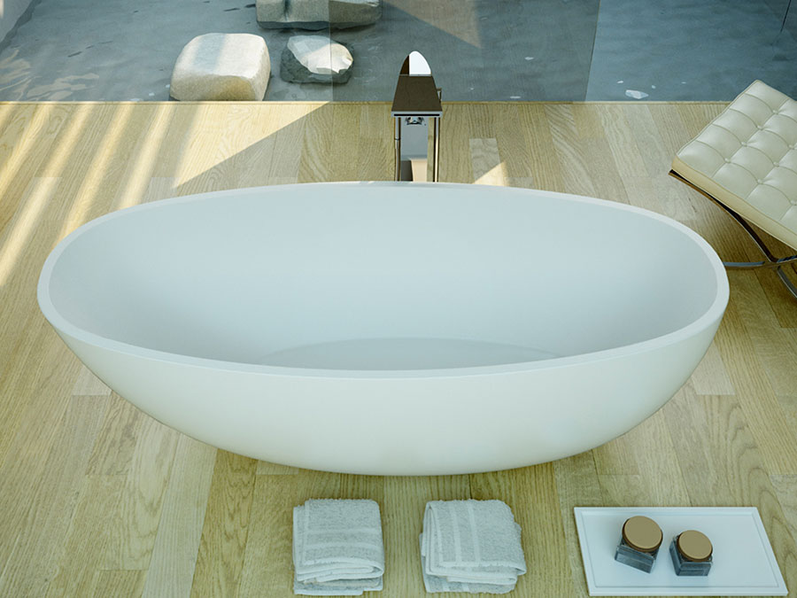 Modello di vasca da bagno moderna n.06