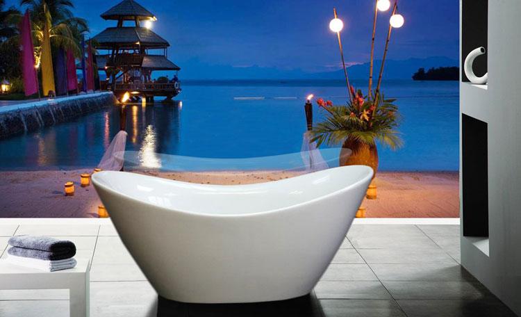 Foto della vasca da bagno moderna n.06