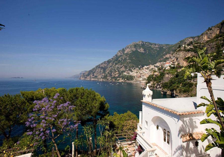 Vista panoramica dell'hotel di lusso Villa Tre Ville
