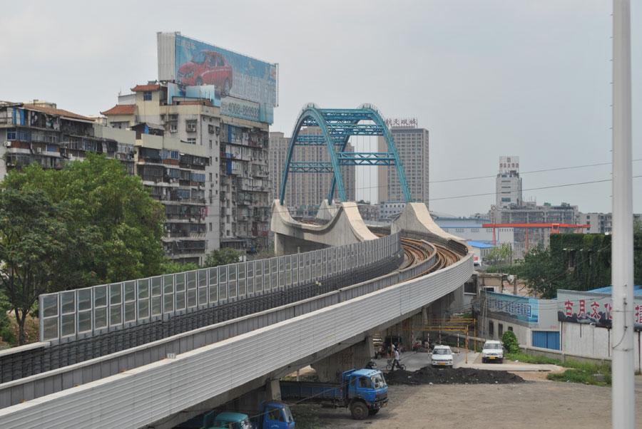 Ponte della metro di Wuhan