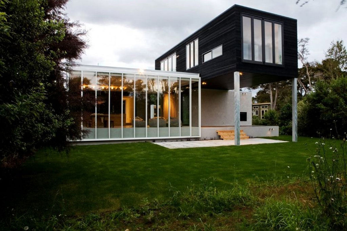 Casa minimalista moderna 20 foto di ville da sogno for Black and white house exterior design