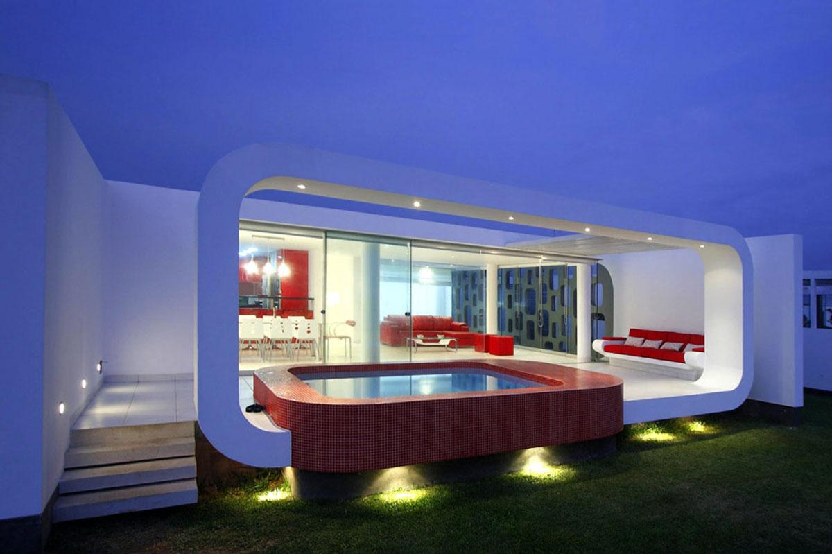 Casa minimalista moderna 20 foto di ville da sogno for Interni case minimaliste