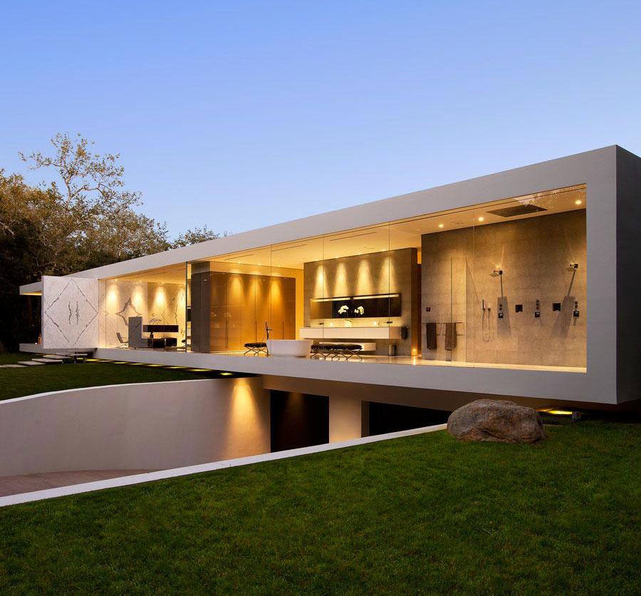Casa minimalista moderna 20 foto di ville da sogno for Casa minimalista grande