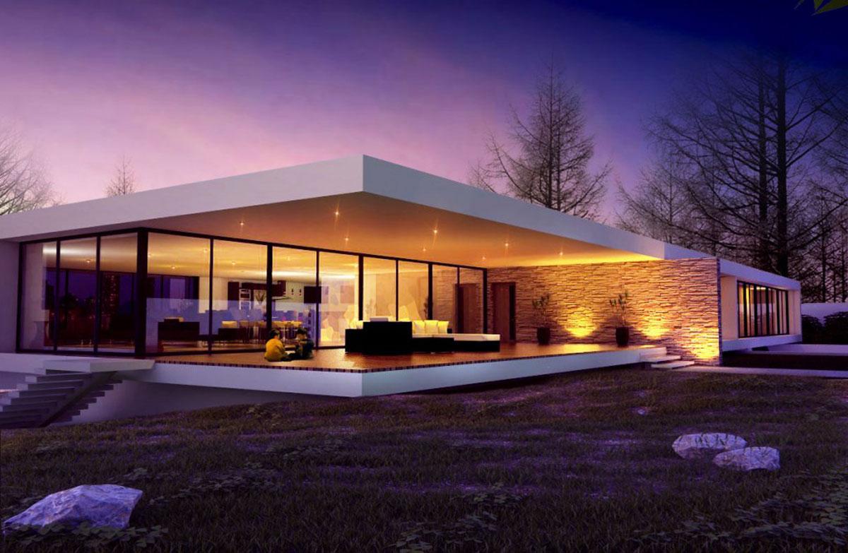Casa Minimalista Moderna: 20 Foto di Ville da Sogno