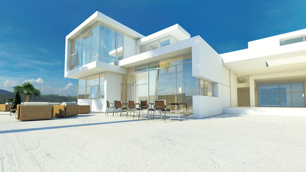 Casa minimalista moderna 20 foto di ville da sogno for Casa minimalista 80 metros