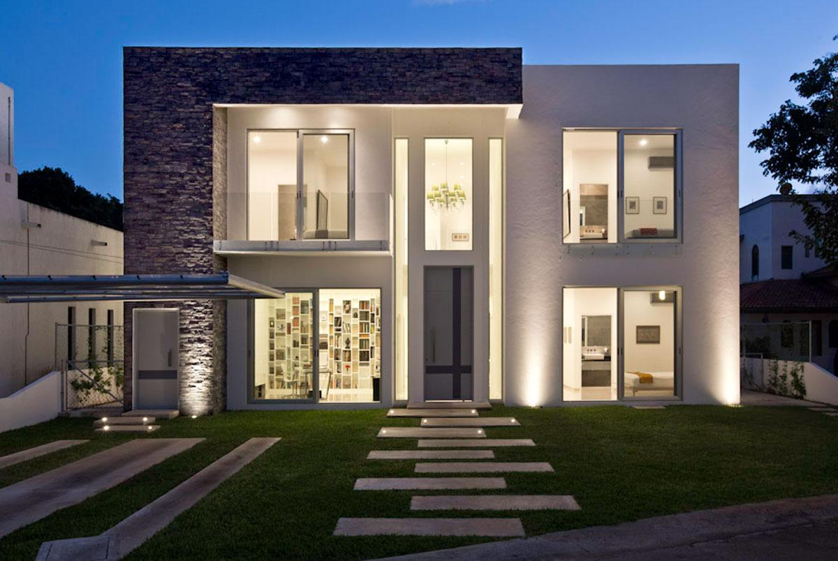Casa minimalista moderna 20 foto di ville da sogno for Estilo de casa minimalista