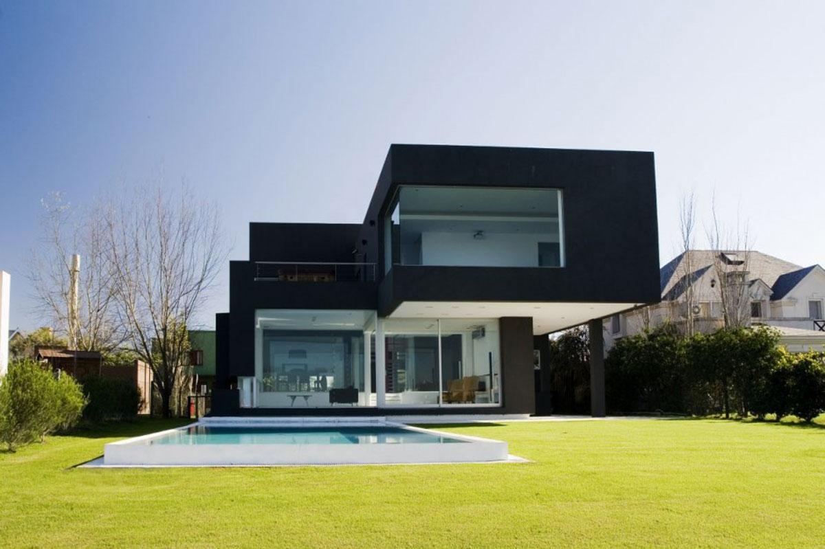 Casa minimalista moderna 20 foto di ville da sogno for Tende casa minimalista