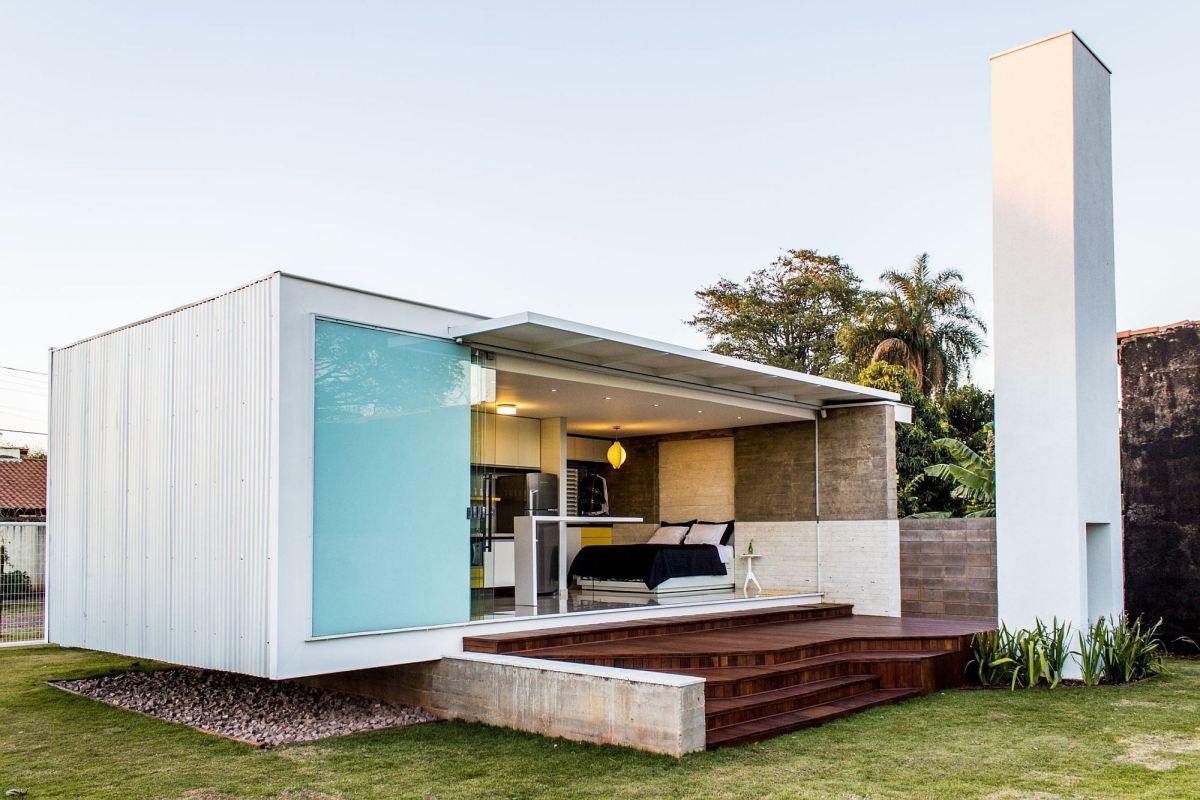 Casa minimalista moderna 20 foto di ville da sogno for Modern minimalist small house design