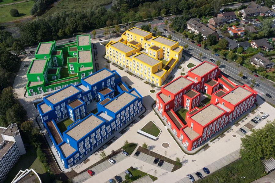 Foto delle case studenti multicolore in Germania