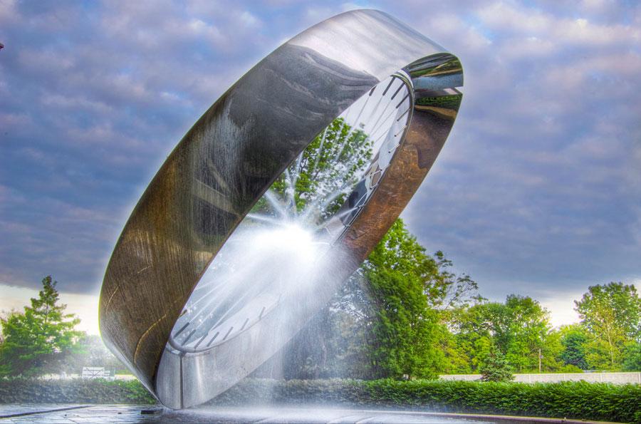 Foto della fontana moderna 71