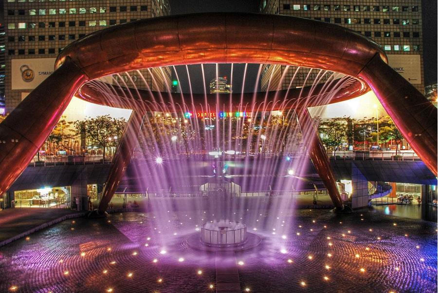 Foto della fontana The Fountain of Wealth
