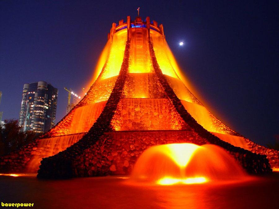 Foto della fontana moderna Volcano