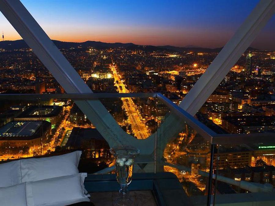 Terrazzo privato dell'Hotel Arts Barcelona