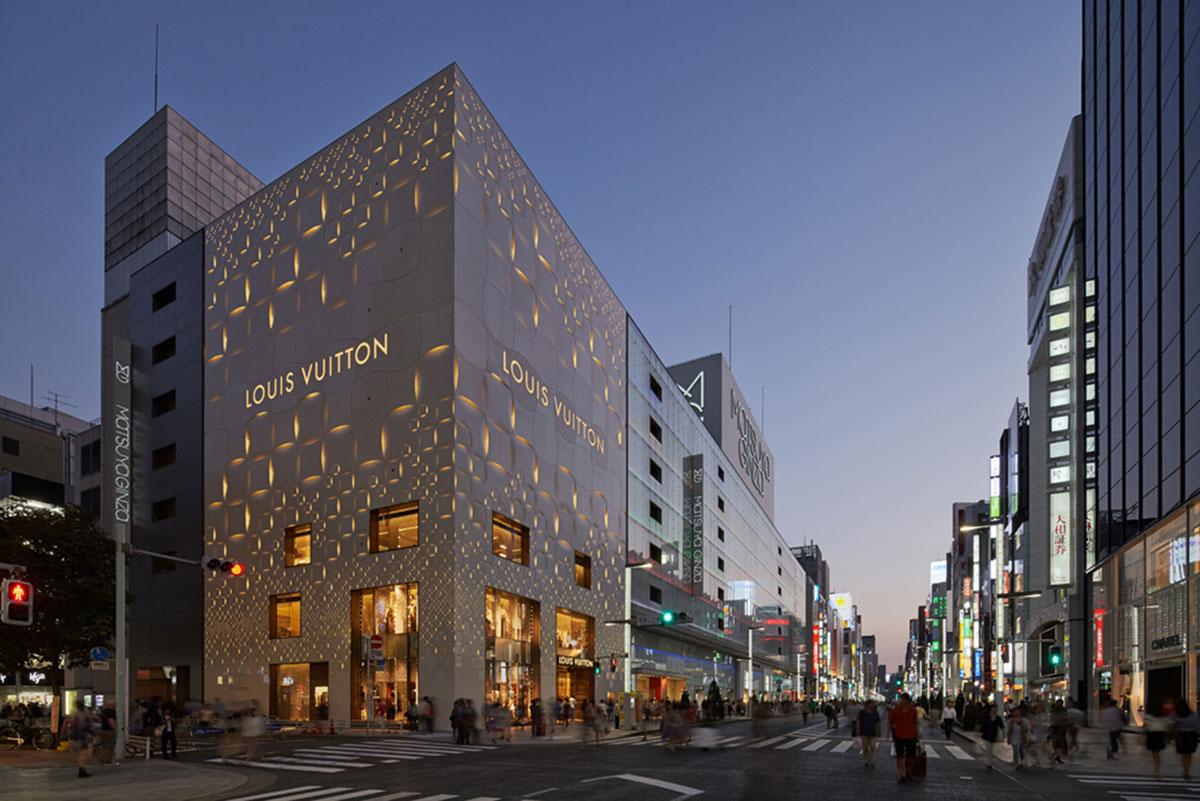Foto della facciata moderna del Louis Vuitton Matsuya