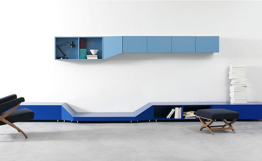 Foto di pareti attrezzate dal design moderno n.03