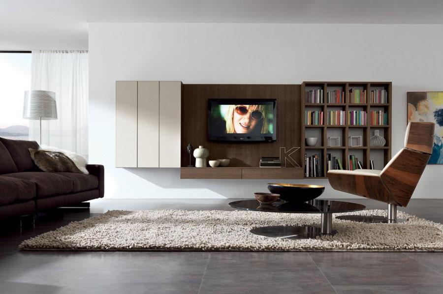 Foto di pareti attrezzate dal design moderno n.11