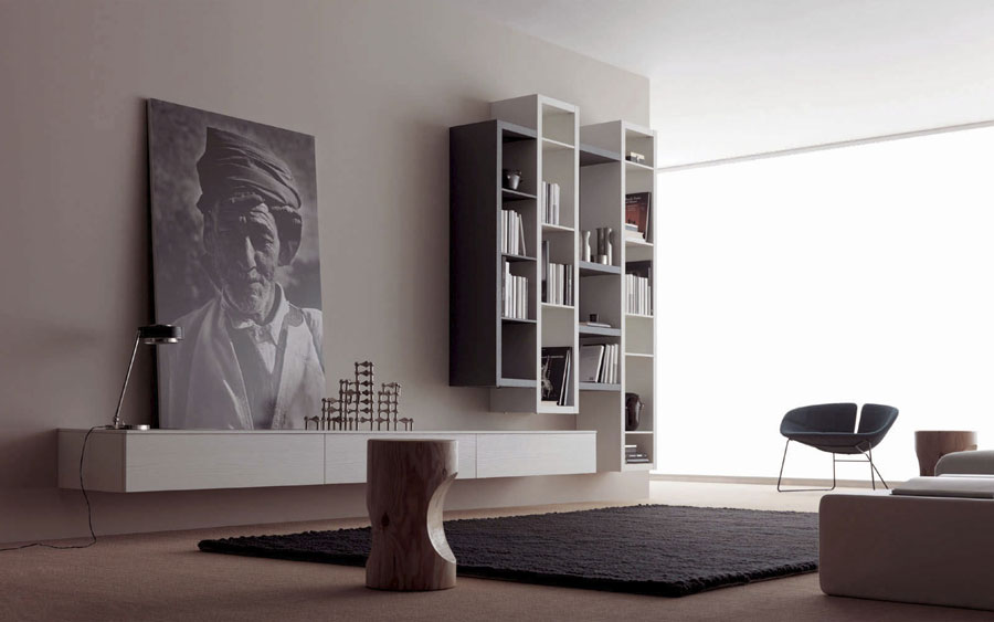 Foto di pareti attrezzate dal design moderno n.15