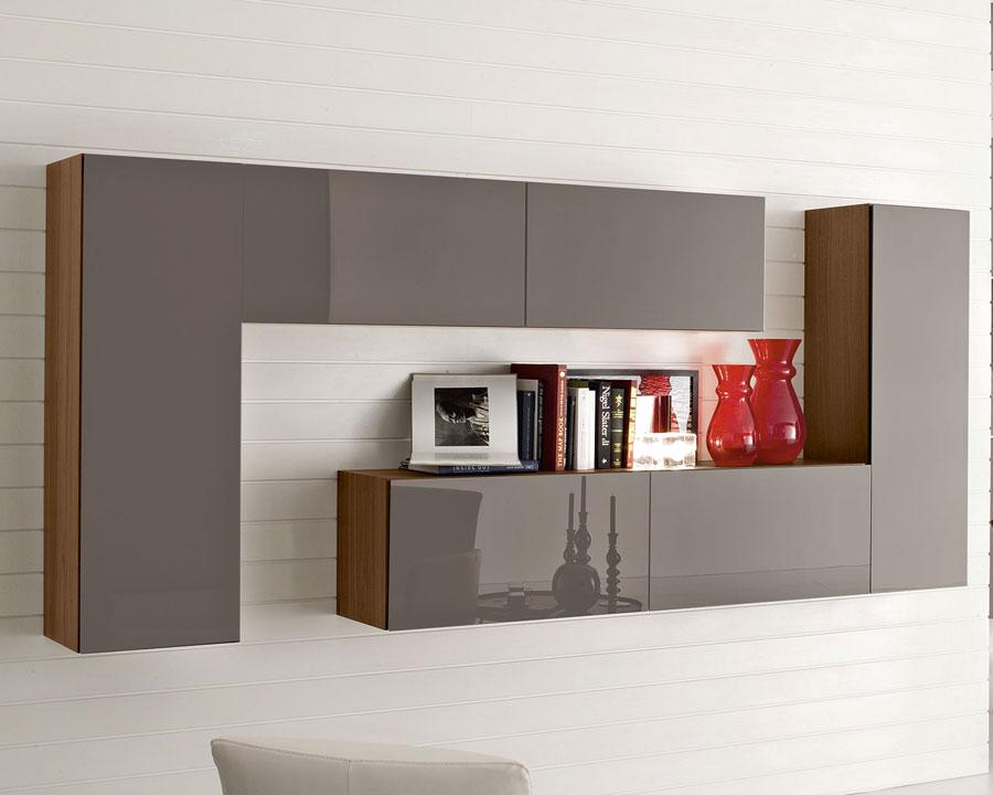 Foto di pareti attrezzate dal design moderno n.17