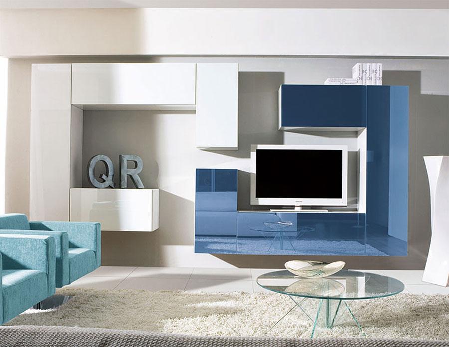 Foto di pareti attrezzate dal design moderno n.20