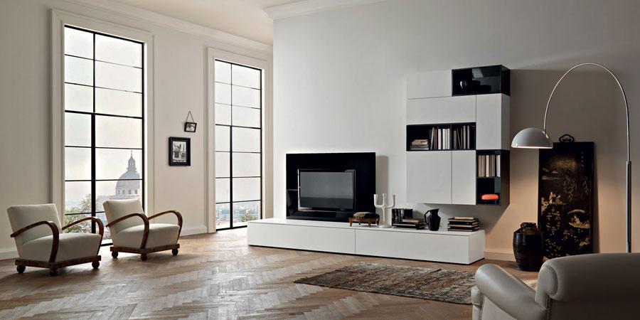Foto di pareti attrezzate dal design moderno n.39