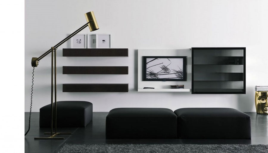 Foto di pareti attrezzate dal design moderno n.48