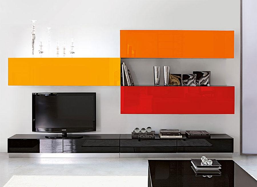 Foto di pareti attrezzate dal design moderno n.52