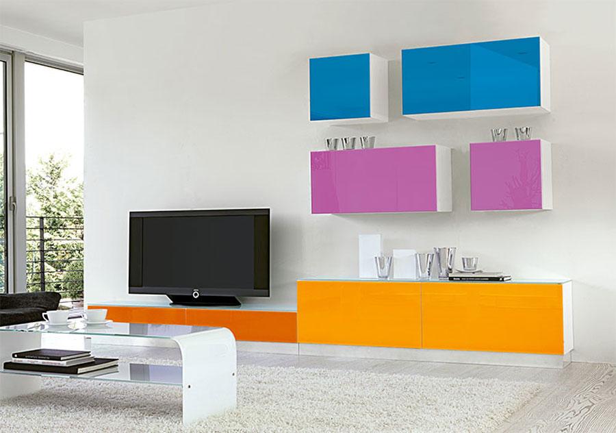 Foto di pareti attrezzate dal design moderno n.53