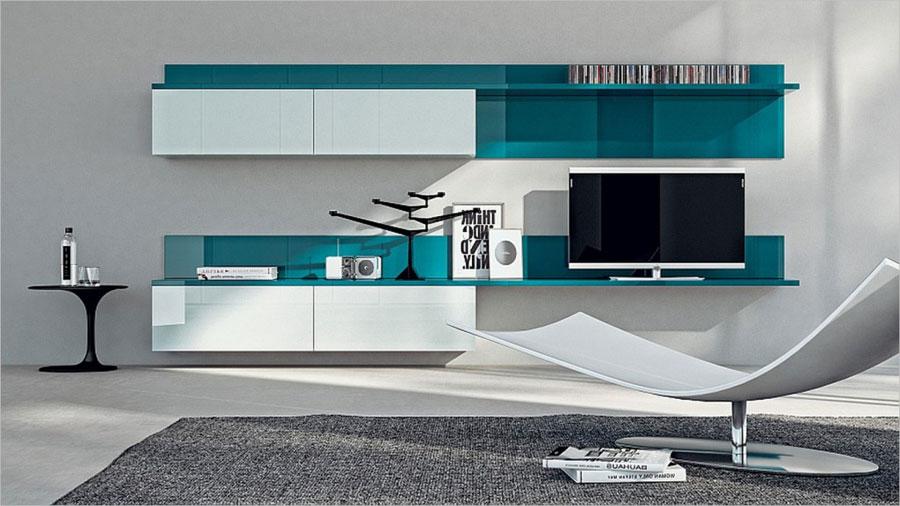 Foto di pareti attrezzate dal design moderno n.56