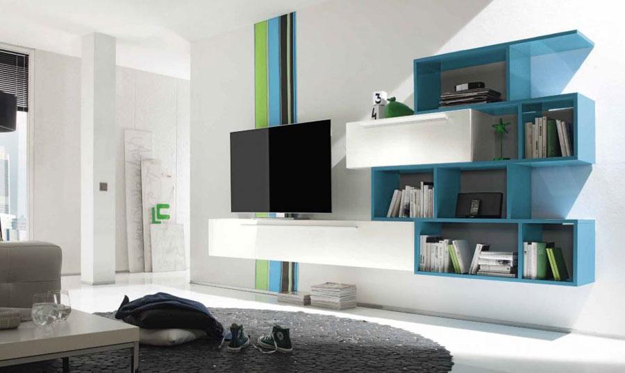 Foto di pareti attrezzate dal design moderno n.60