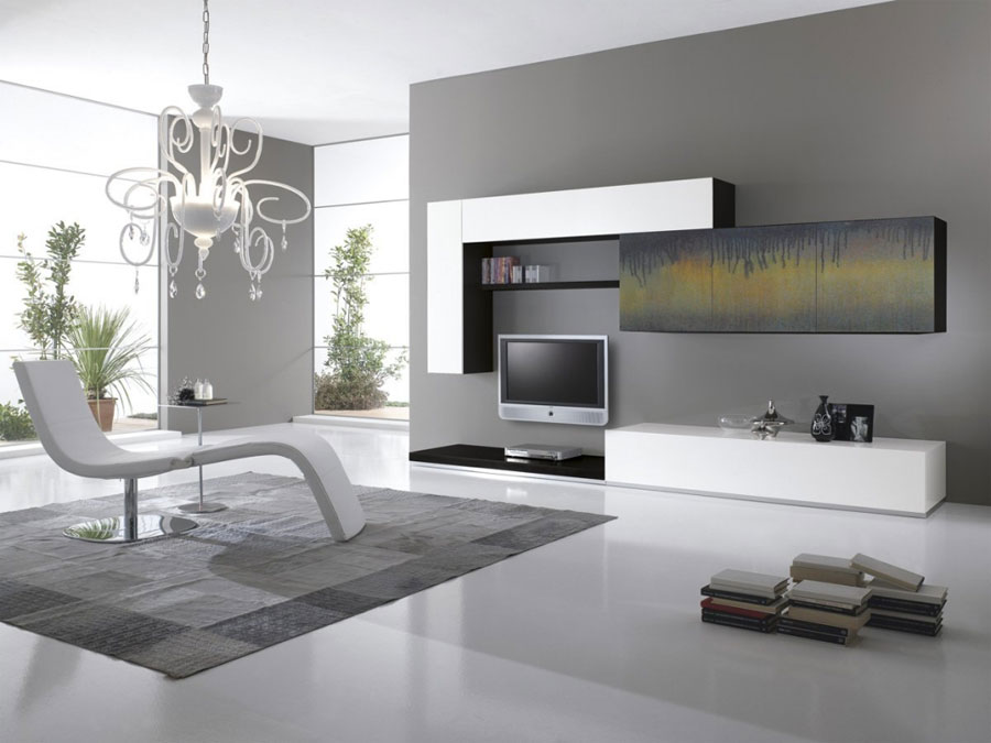 pareti attrezzate moderne  idee di design per arredare casa, Disegni interni