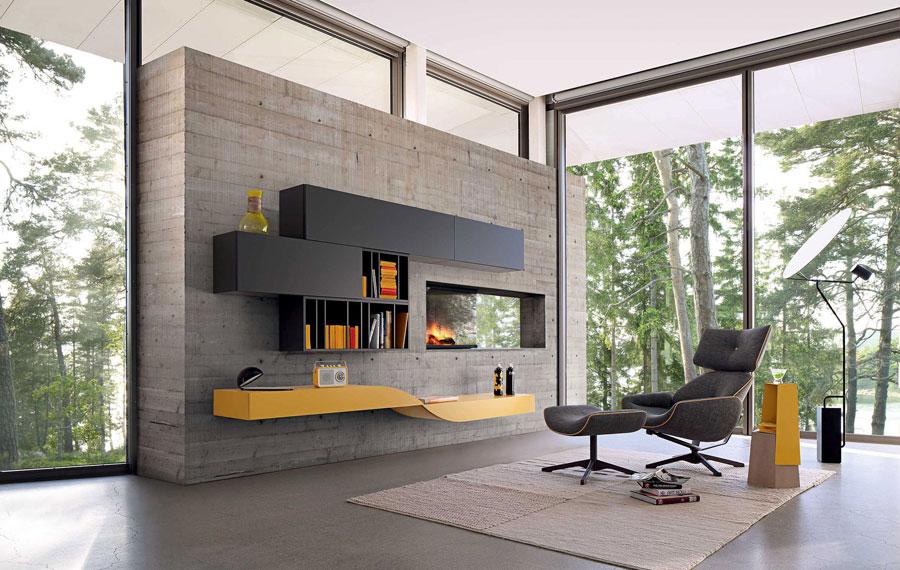 Foto di pareti attrezzate dal design moderno n.64