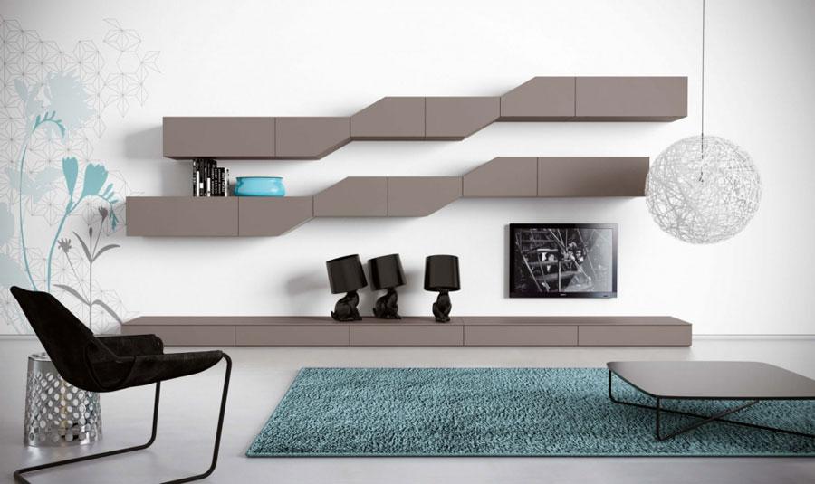 Pareti attrezzate moderne 70 idee di design per arredare for Disegni di casa italiana moderna