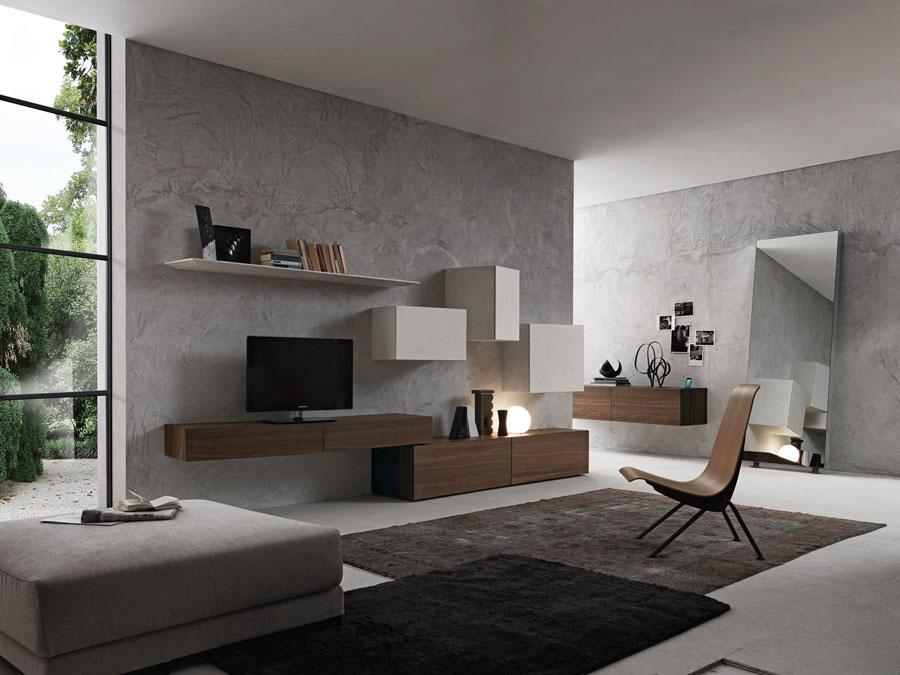 Foto di pareti attrezzate dal design moderno n.68