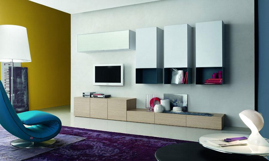 Foto di pareti attrezzate dal design moderno n.70