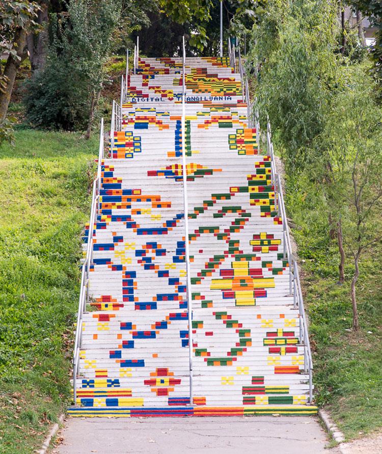 Foto della scalina Furnica a Targu Mures in Romania