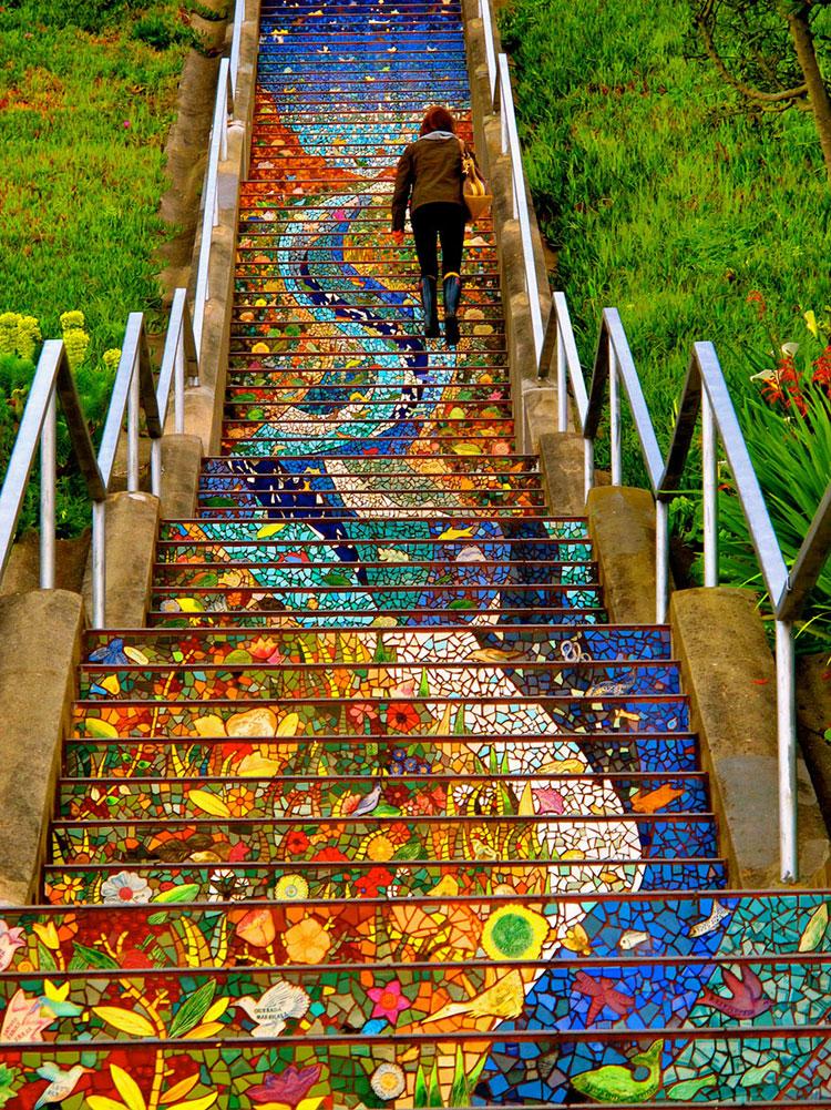 Foto della scalinata Moraga a San Francisco