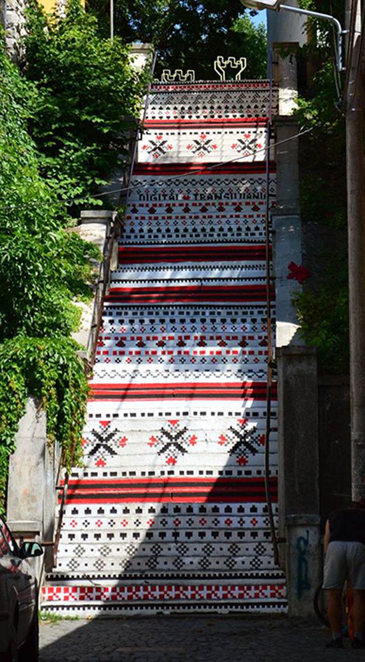 Foto della scalinata decorata Rakoczi