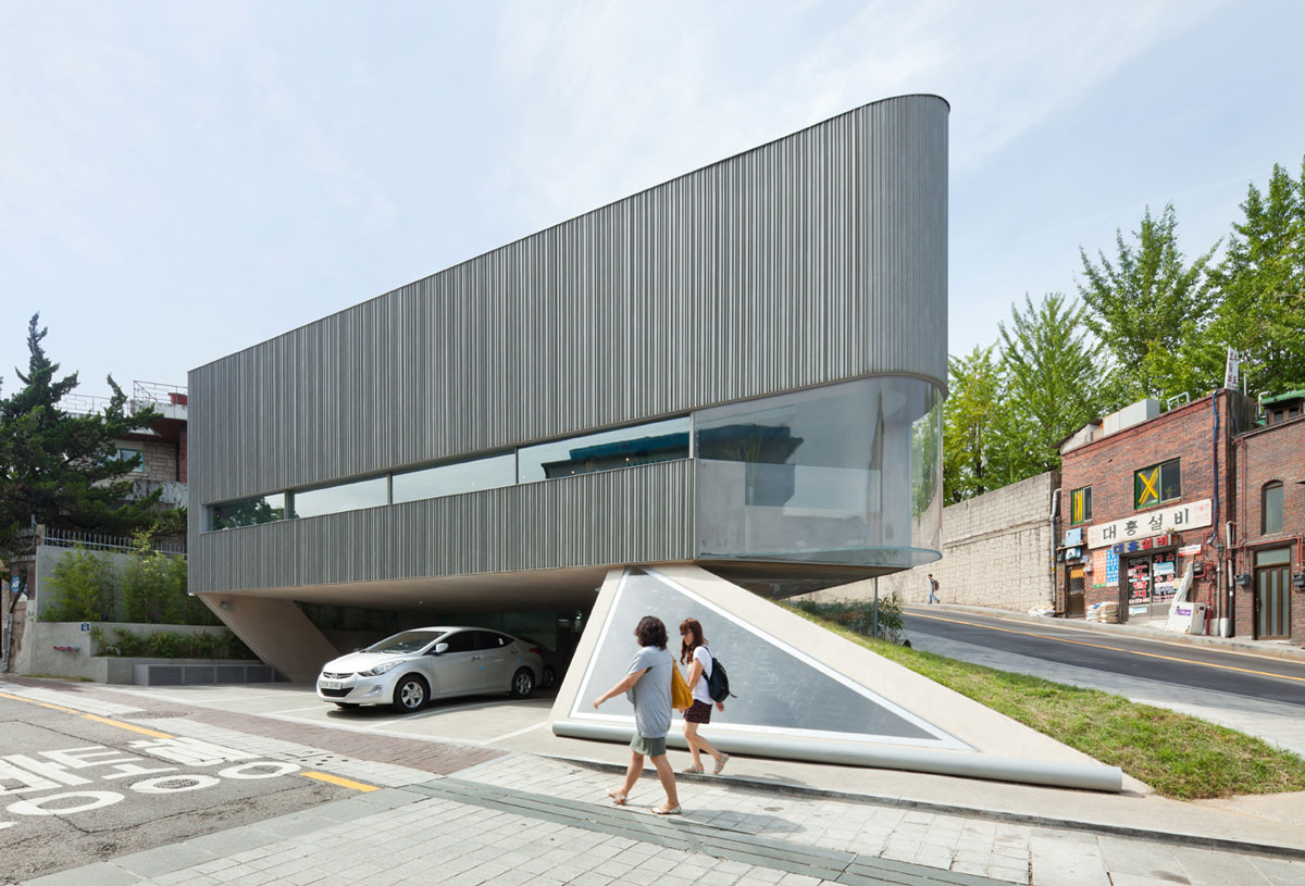 Foto della struttura moderna del Songwon Art Center