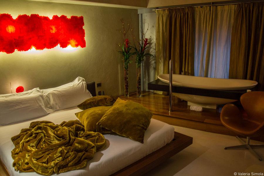 Camera dell'hotel Suite Sistina a Roma