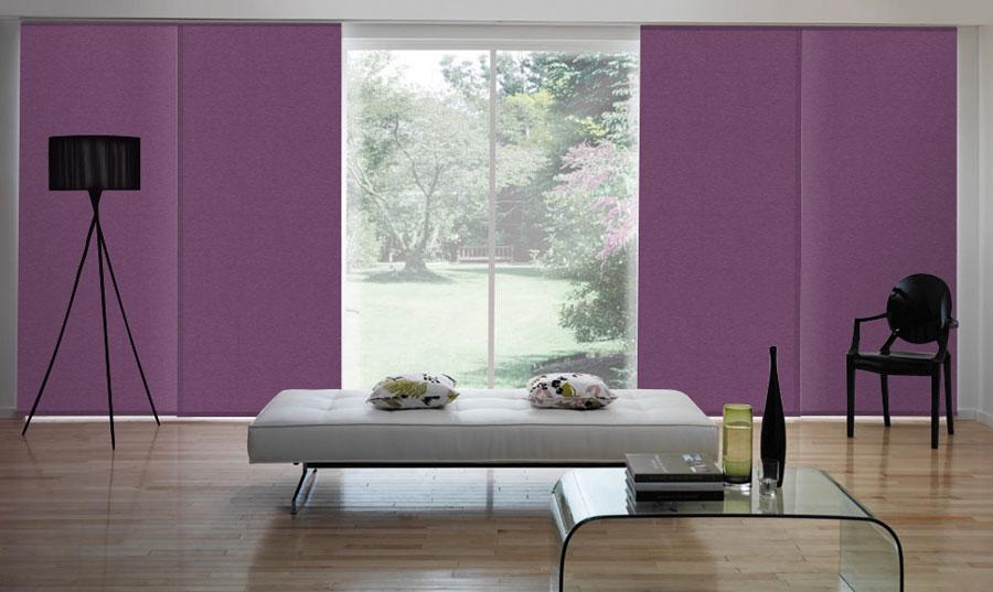 50 esempi di tende a pannello moderne per interni for Tende arredo interni