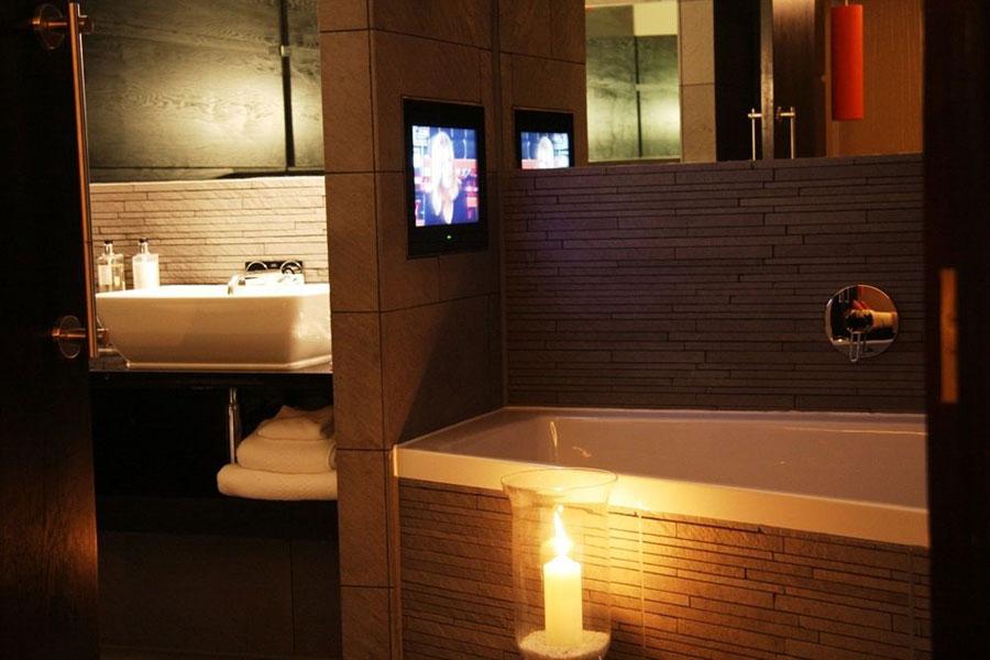 Bagno della suite del Vincent Hotel a Liverpool