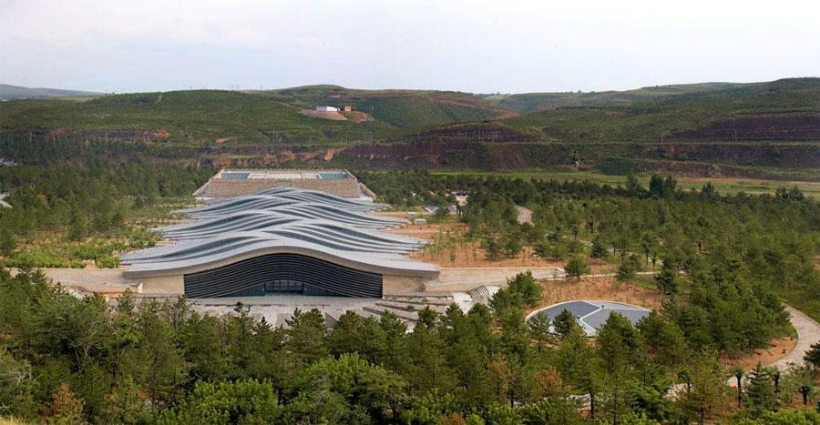 Foto della struttura moderna del Yungang Grottoes Museum