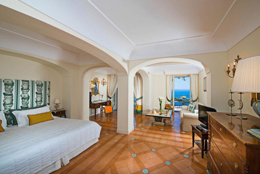 Camera dell'albergo Punta Regina a Positano