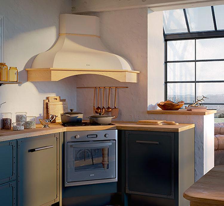 Modello di cappa per cucina in muratura rustica n.01