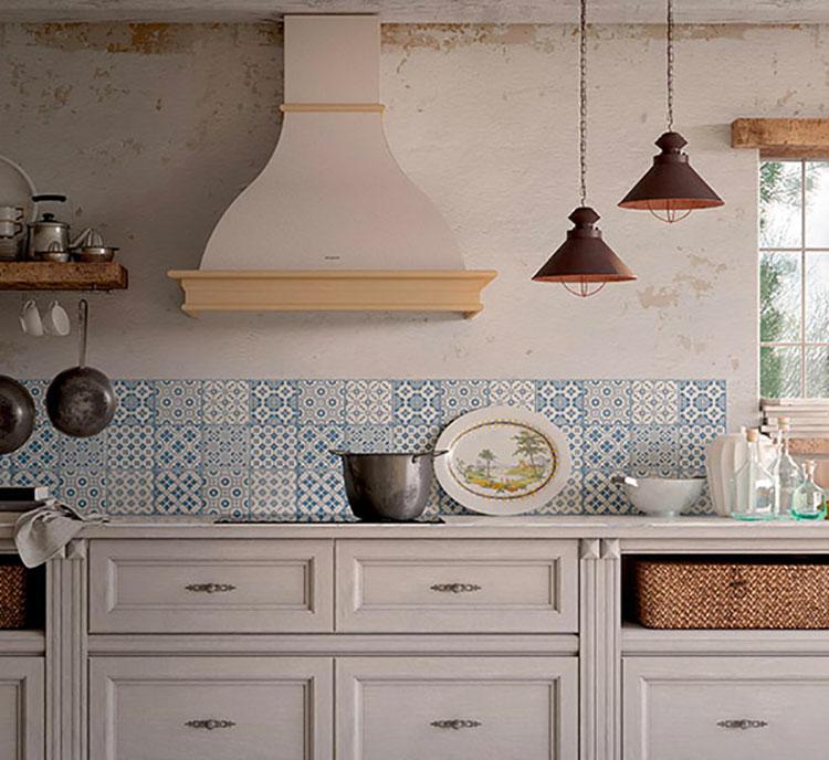 Modello di cappa per cucina in muratura rustica n.02