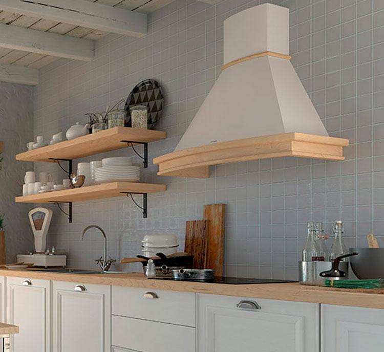 Modello di cappa per cucina in muratura rustica n.03