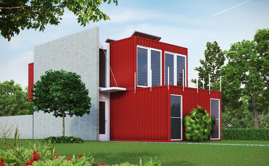 Casa container dal design moderno n.16