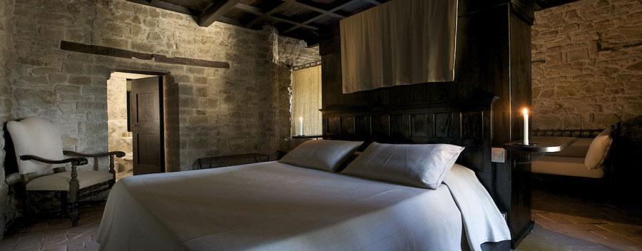 Camera dell'hotel Castello Monterone a Perugia