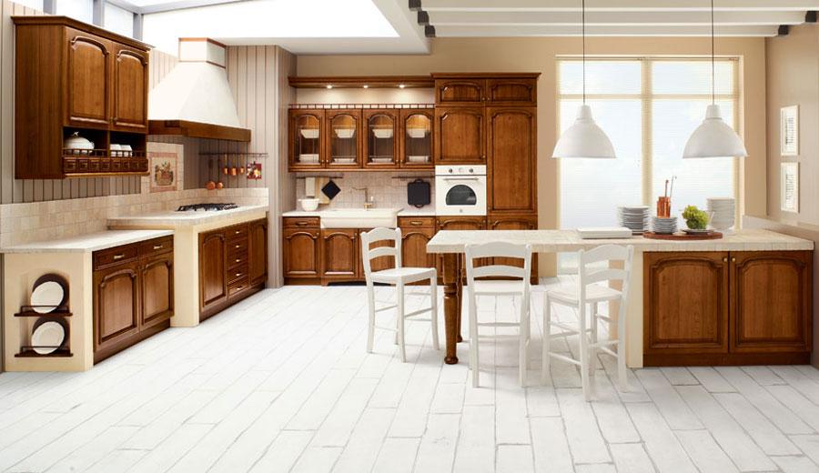 Foto della cucina in muratura moderna n.03