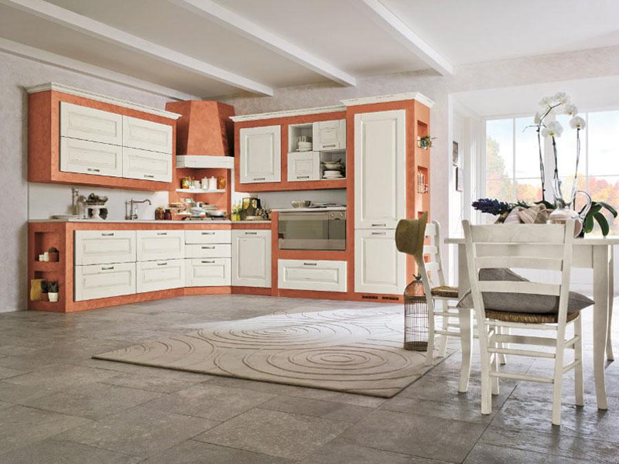 Foto della cucina in muratura moderna n.08